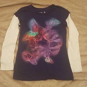 🎂 Girls butterfly long sleeve tee 3/$15
